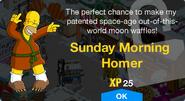 Sunday Morning Homer Unlock Screen