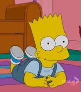 Baby Bart in the show
