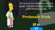 Tapped out professor frink-unlock-message