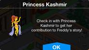 Princess Kashmir's contribution to Freddy's story