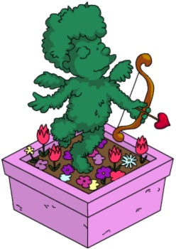 Cherub Topiary