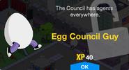 Egg Council Guy Unlock Screen