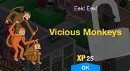 Vicious Monkeys Unlock Screen