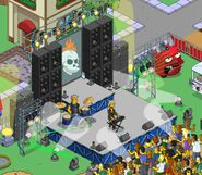 Rock stage Homerpalooza