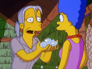 Joan Bushwell trying to bribe Marge in the show
