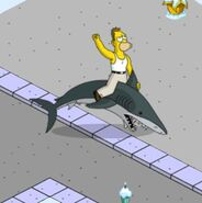 Young Grampa Simpson Getting Jumped by the Shark (1)