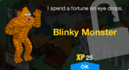 Blinky Monster Unlock Screen