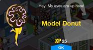 Model Donut Unlock Screen