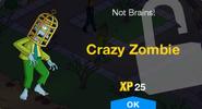 Crazy Zombie Unlock Screen