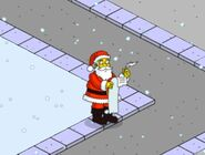 Santa Claus Making His List and Checking It Thrice