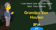 Grandpa Van Houten Unlock Screen
