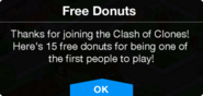 COC Free Donuts