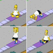 Homer Doing Yoga