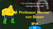 Professor Werner von Brawn unlock screen