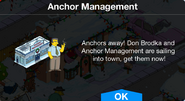 Anchor Management notification