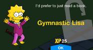 Gymnastic Lisa unlock screen
