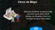 Cinco de Mayo notification with Duff Brewery