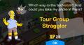 Tour Group Straggler Unlock Screen