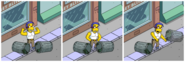 Muscular Milhouse Going on a Rampage (1)