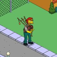 Groundskeeper Wilma Playing the Bagpipes