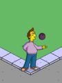 Jacques Performing Bowling Ball Tricks