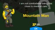 Mountain Man Unlock Screen