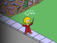 Wizard Lisa Practicing Spells