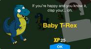 Baby T-Rex Unlock Screen