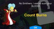 Count Burns Unlock Screen