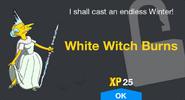 White Witch Burns Unlock Screen