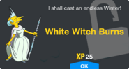 White Witch Burns Unlock Screen