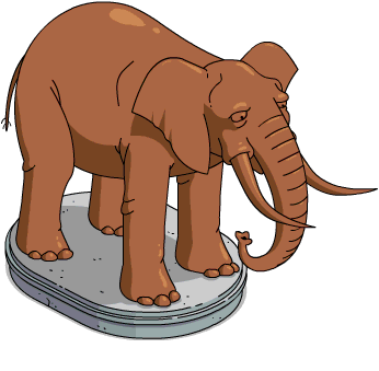 Zoo Elephant Statue The Simpsons Tapped Out Wiki Fandom Gray elephant poster, african bush elephant indian elephant , elephant transparent background png clipart. zoo elephant statue the simpsons
