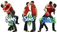 ♦ Sims 2 vs Sims 3 vs Sims 4 Kisses & Interactions