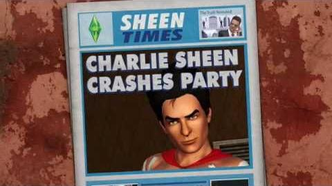 Charlie Sheen is WINNING in The Sims 3