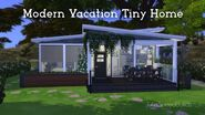 Modern Vacation Home Tiny Home Sims 4 Speed Build