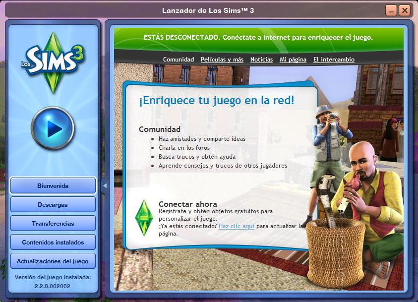 Lanzador de Los Sims 3