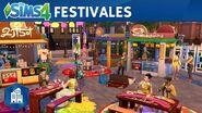 Los Sims 4 Urbanitas tráiler oficial de festivales