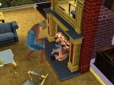Female Sim in the fireplace.jpg