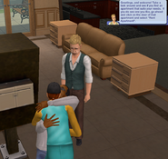 Harold and Lisa making out in front of landlord