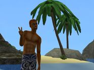 Johnny Urban at the beach - old snapshot