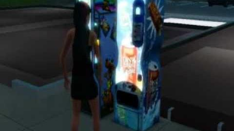 Sim kicking vending machine