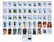 Sims4 Jardin Romantico objetos CAS