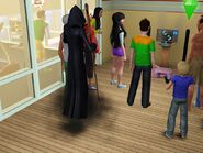 Grim reaper at a party