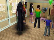 Grim reaper at a party