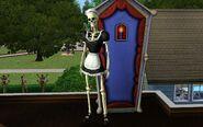 Bonehilda beside her living quarters