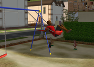 Johnny on the swings