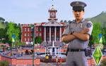 Les Sims 3 Fond d'écran Hôtel de ville 1680x1050