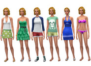 Dina Caliente ts4 wardrobe