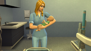 Holding Her New Son