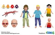 Sims 4 Infantes Arte Conceptual 5